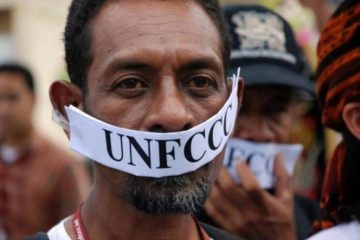 Man at UNFCCC protest