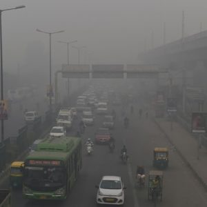 Paris Agreement, polluted highway