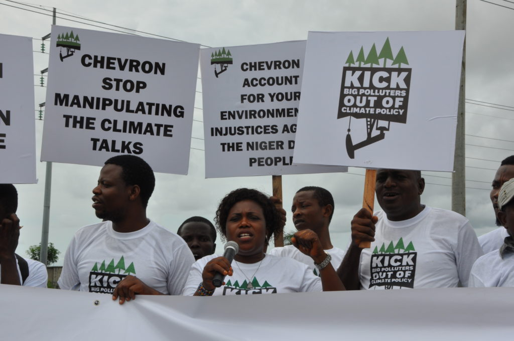Environmental Rights Action, Nigeria demands that Chevron stop manipulating Climate talks.