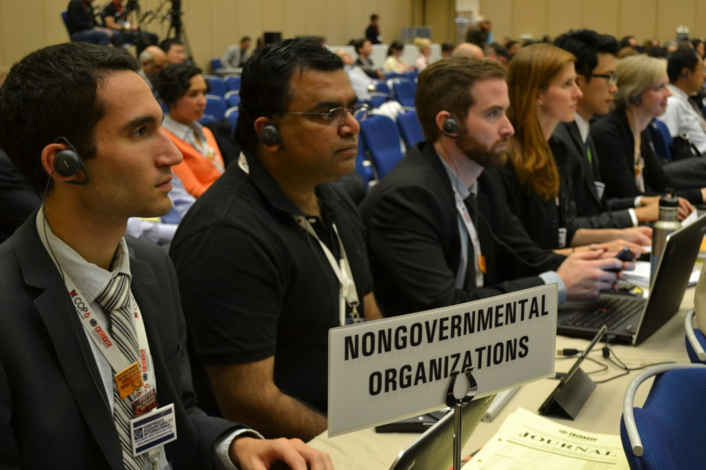 Corporate Accountability organizers at COP 6.