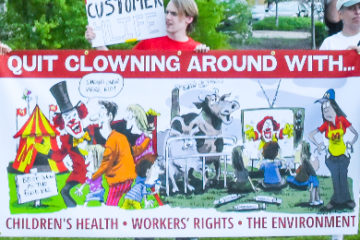 Quit clowning around with people's health, workers rights', and the environment.