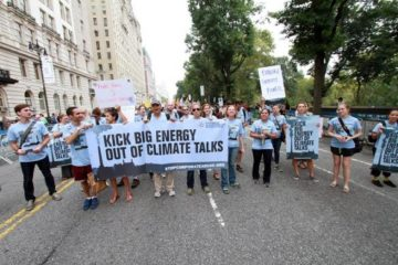 Corporate Accountability organizers rally for action at UN climate summit.