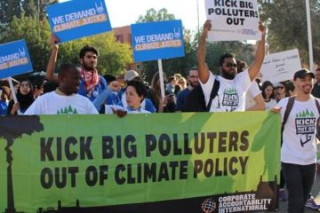 Corporate Accountability organizers demonstrate during COP22.