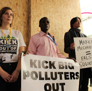 Corporate Accountability organizers demand Big Polluters to stand down at climate talks