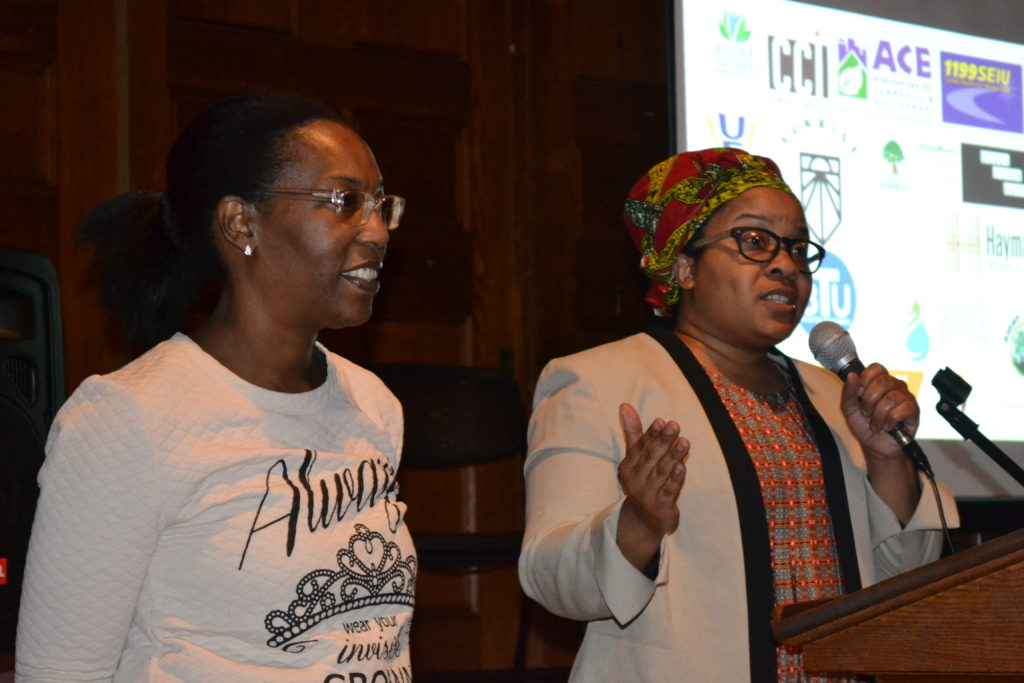 Flint Rising organizers Gina Luster and Nayyirah Shariff