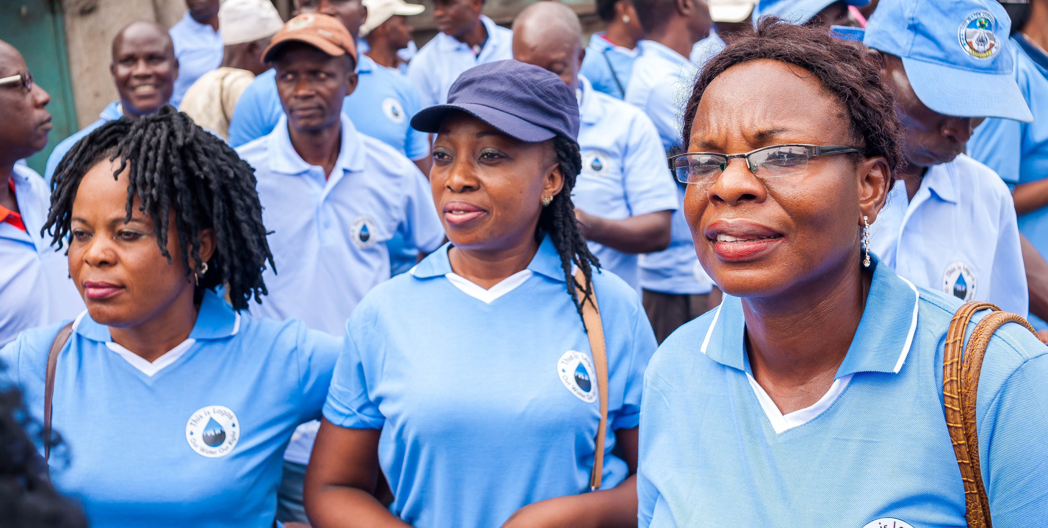 Women at the World Water Day rally in Lagos, Nigeria.