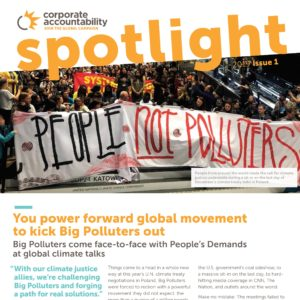 Corporate accountability newsletter cover March 2019