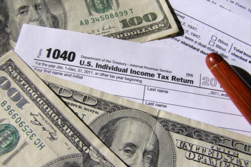 Tax forms and cash