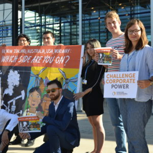 As the climate talks began on Monday morning, activists had a clear message for Global North governments blocking climate justice: #PollutersOut!