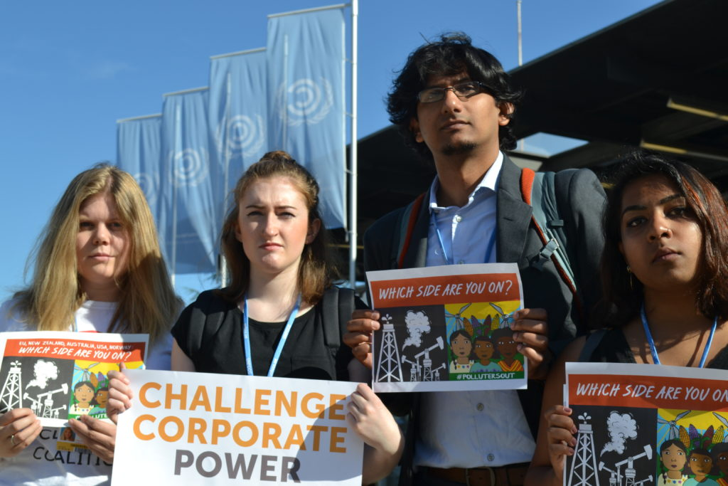 Climate justice organizers at the Bonn Climate meetings.