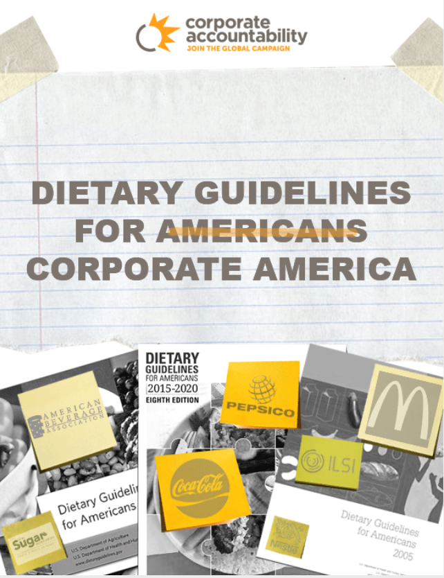 Cover of report: Dietary Guidelines for Corporate America