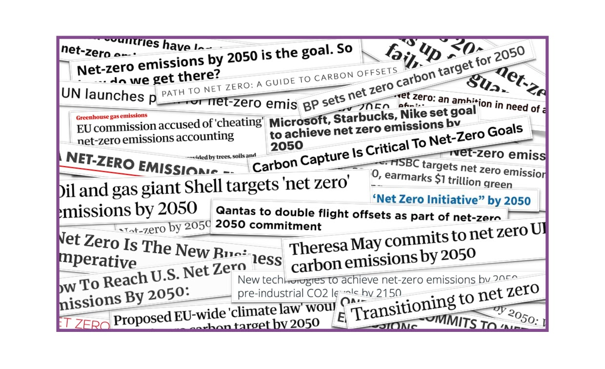 Headlines from Big Polluters on NetZero