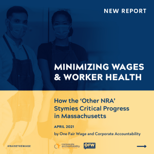 Report cover: Minimizing Wages & Worker Health